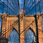 Brooklyn Bridge In The Golden Light Poster