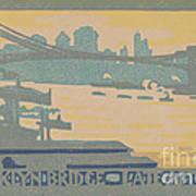 Brooklyn Bridge Late Afternoon Poster