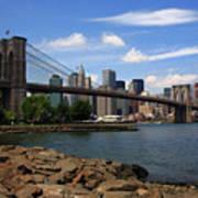 Brooklyn Bridge - New York City Skyline Poster