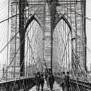 Brooklyn Bridge Promenade 1898 - New York Poster
