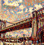 Brooklyn Bridge Watercolor Poster