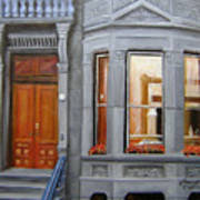 Brooklyn Brownstone Window Poster