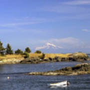 Brooks Point With Mt. Baker Poster