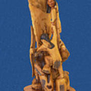 Brother 2, Carved Out Of A Dead Tree By Scott Alan Malinsky In Twin Lakes, Colorado  Poster