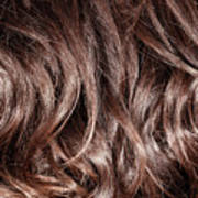 Brown Curly Hair Background Poster