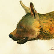 Brown Hyena Poster