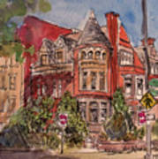 Brownstone On Corcoran Street Poster