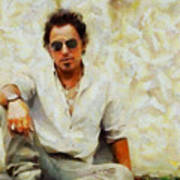 Bruce Springsteen Poster by Elizabeth Coats