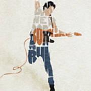 Bruce Springsteen Typography Art Poster