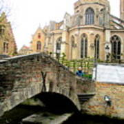 Bruges Bridge 4 Poster