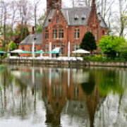 Bruges Kasteel Minnewater Poster