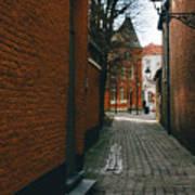 Bruges Orange Street Poster