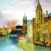 Brugge Belgium Canal Poster