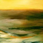 Brushed 4 - Vertical Sunset Poster