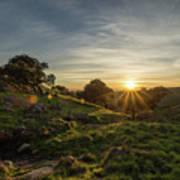 Brushy Peak Sunset Poster