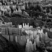 Bryce Canyon In Black And White Poster
