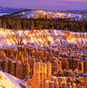 Bryce Canyon Winter Sunrise Poster