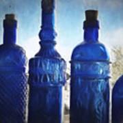 B's Blue Bottles Poster