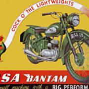 Bsa Bantam Motorcycle Poster