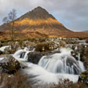 Buachaille Etive Waterfalls Poster