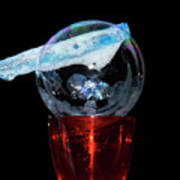 Bubble In A Glass Poster