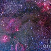 Bubble Nebula And Cave Nebula Mosaic Poster