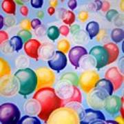 Bubbling Balloons Poster