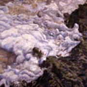 Bubbling Sea Rocks Poster