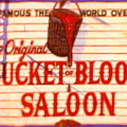 Bucket Of Blood Saloon Poster
