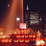 Buckingham Fountain In Chicago 2 Poster