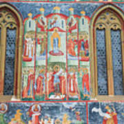 Bucovina Monastery Fresco Poster
