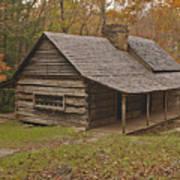 Bud Ogle Cabin Fall  Poster