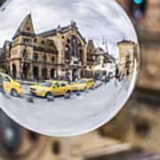 Budapest Globe - Great Market Hall Poster