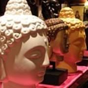 Buddha Heads Poster