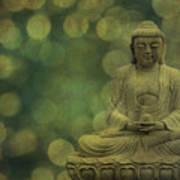 Buddha Light Gold Poster