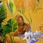 Buddha Sculp Poster