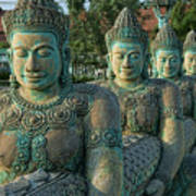 Buddhas All In A Row Poster