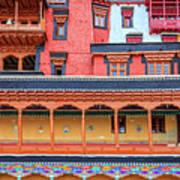 Buddhist Monastery Building Poster