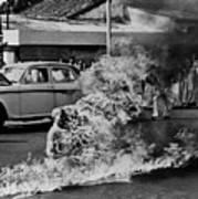 Buddhist Monk Thich Quang Duc, Protest Poster by Everett
