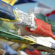 Buddhist Prayer Flags Poster