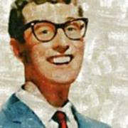 Buddy Holly By Mary Bassett Poster