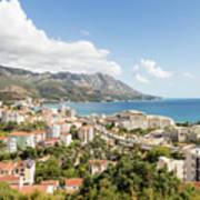 Budva Along The Adriatic Sea In Montenegro Poster