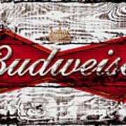 Budweiser Wood Art 5a Poster