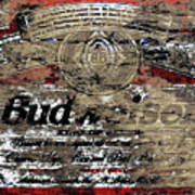 Budweiser Wood Art 5c Poster