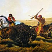 Buffalo Hunt, 1862 Poster