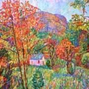 Buffalo Mountain In Fall Poster