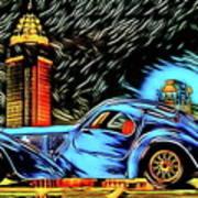 Bugatti Type 57 Atlantic 1930ies Poster