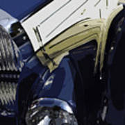 Bugatti Type 57 In Blue And White Poster