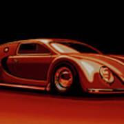 Bugatti Veyron 'beetgatti' 1945 Painting Poster