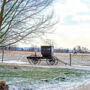 Buggy Alone In Winter Poster
